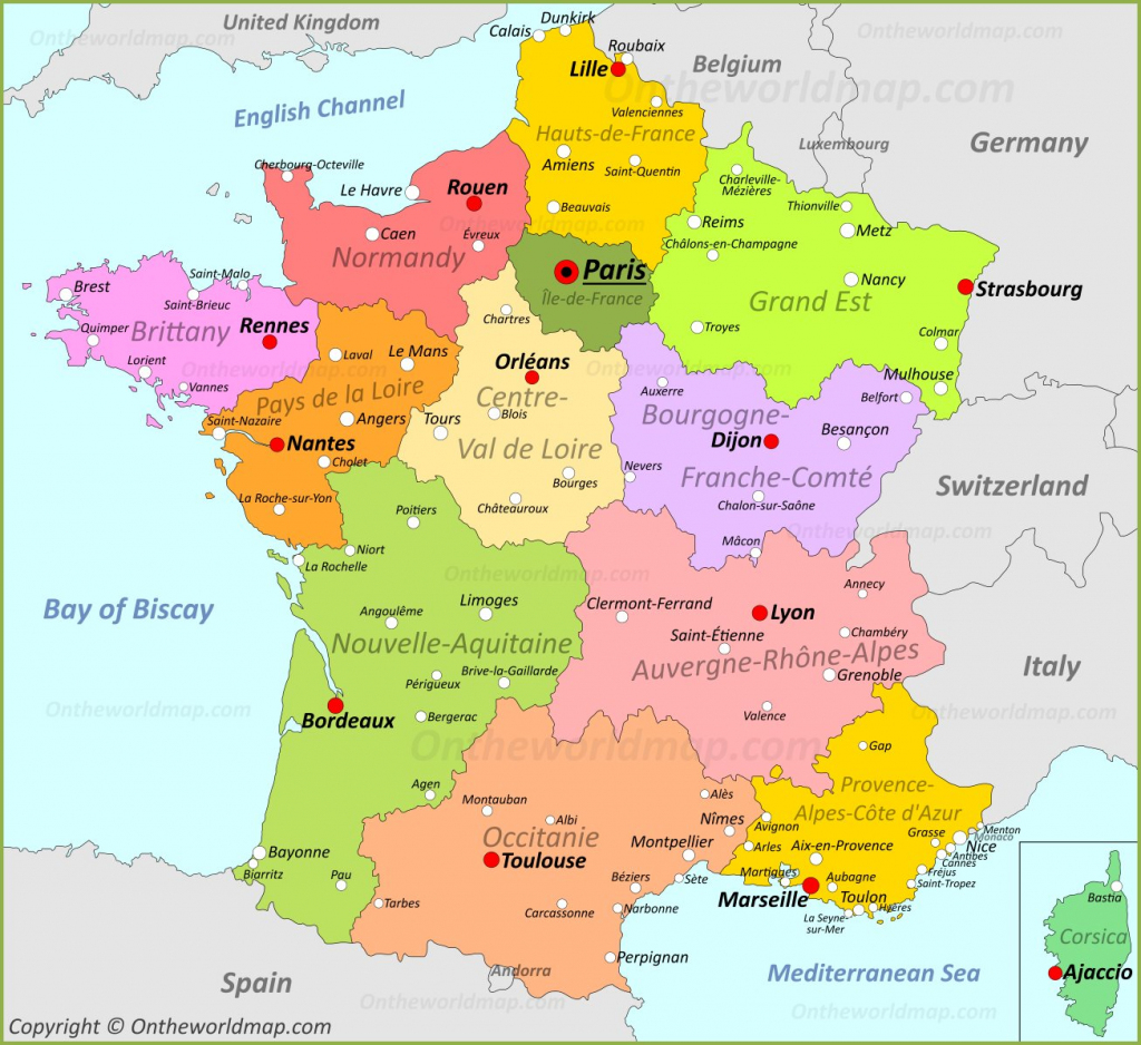 France Maps | Maps Of France within Printable Map Of France Regions