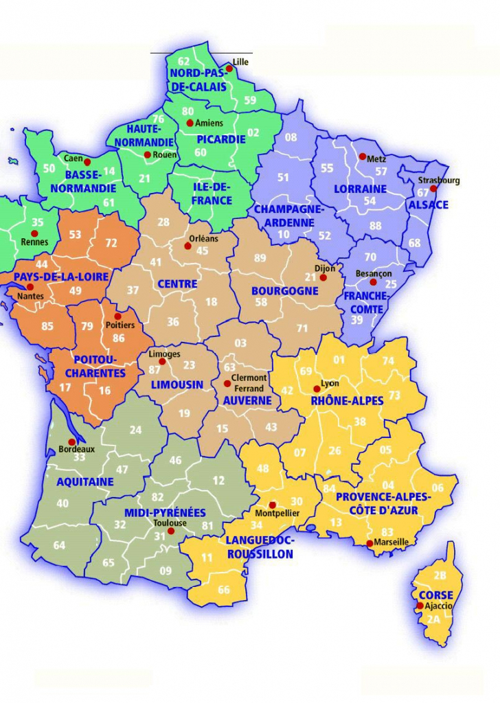 France Maps | Printable Maps Of France For Download with regard to Large Printable Map Of France