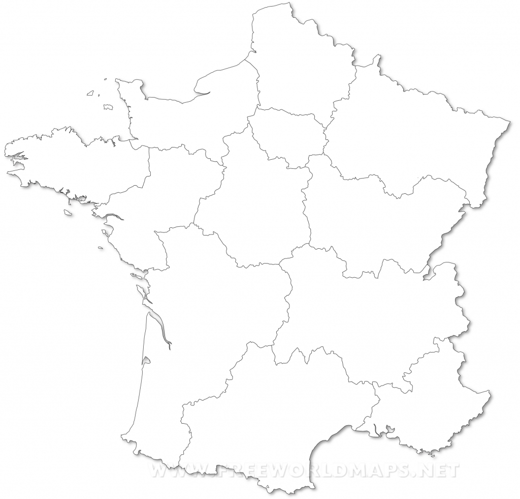 France Political Map regarding Map Of France Outline Printable