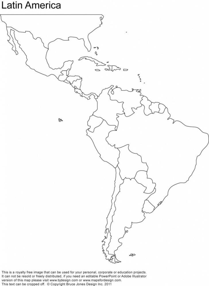 Free Printable Map Of North America