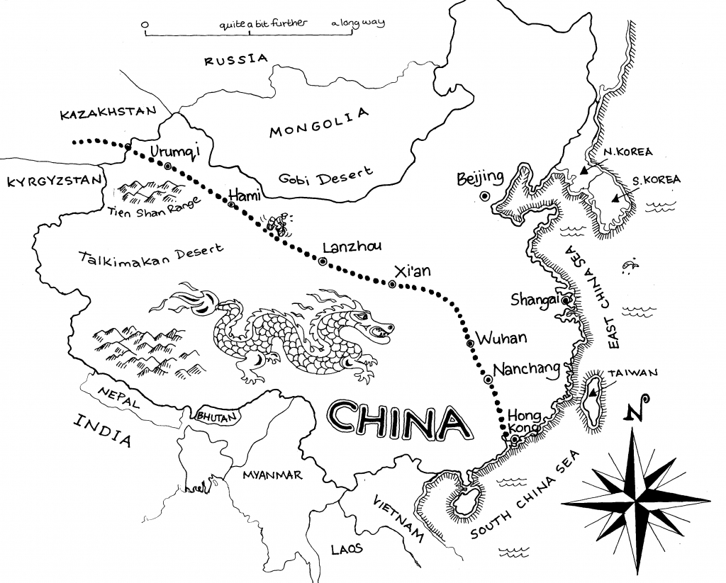 Free China Outline, Download Free Clip Art, Free Clip Art On Clipart regarding Free Printable Map Of China