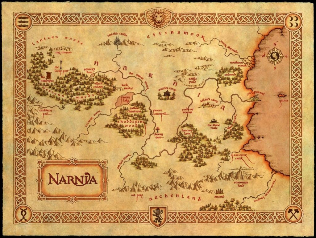 Free Chronicles Of Narnia Resource Unit | Map Skills | Map Of Narnia throughout Printable Map Of Narnia