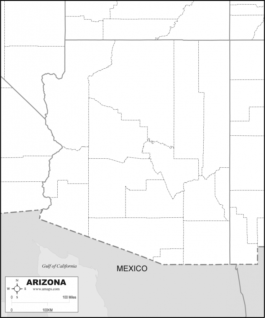 Free Map Of Arizona intended for Free Printable Map Of Arizona