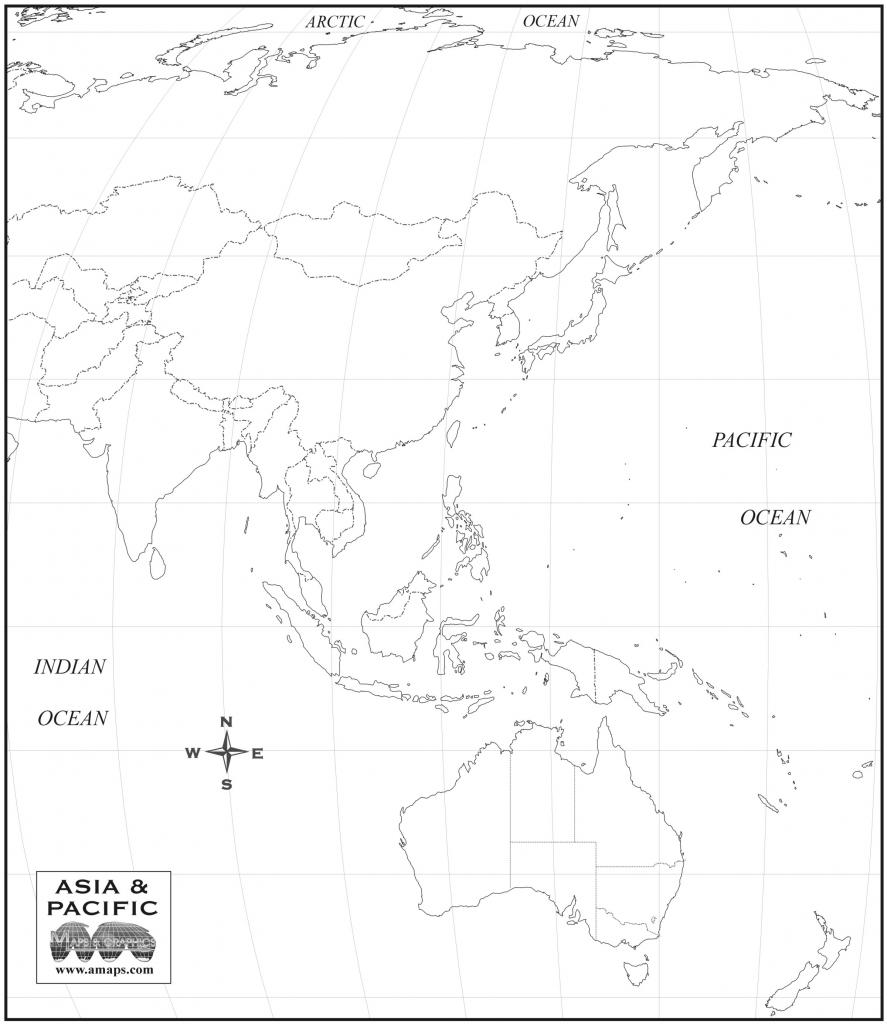 Free Map Of Asia Oceania regarding Free Printable Map Of Asia