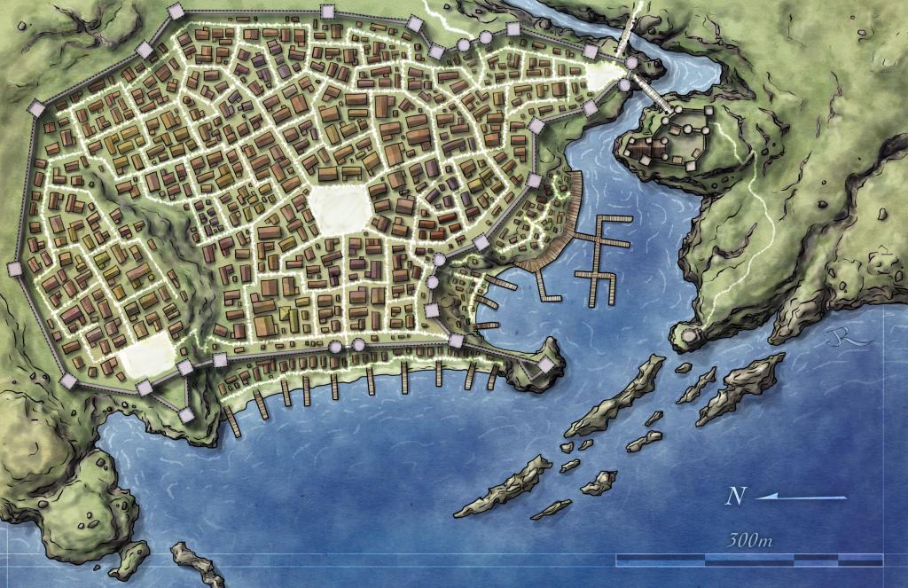 Free Maps - Fantastic Maps inside D&d Printable Maps