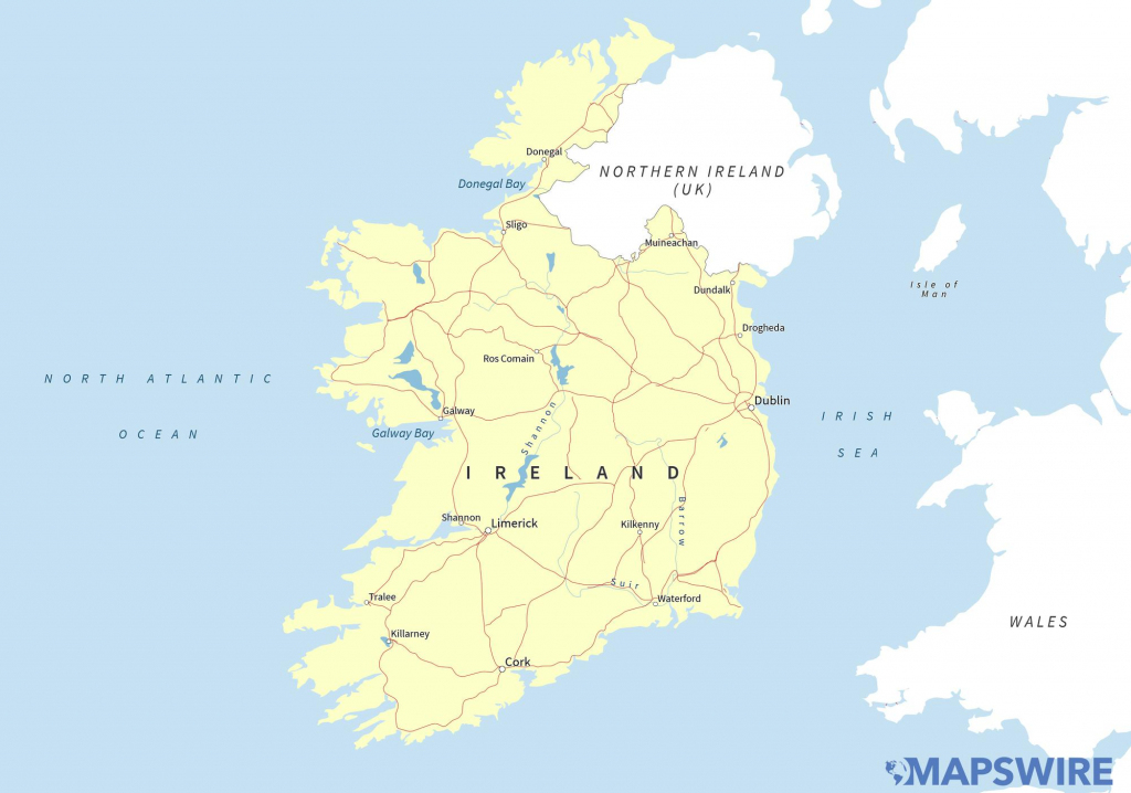Free Maps Of Ireland – Mapswire throughout Free Printable Map Of Ireland