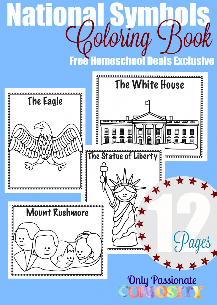 Free National Symbols Coloring Book (Instant Download) | Ultimate with Map Symbols For Kids Printables