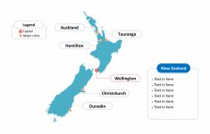 Free New Zealand Editable Map – Free Powerpoint Templates for Outline Map Of New Zealand Printable