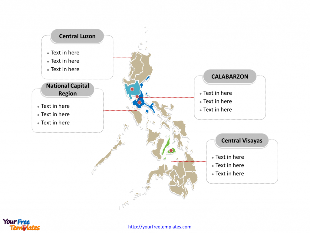 Free Philippines Editable Map - Free Powerpoint Templates inside Printable Quezon Province Map
