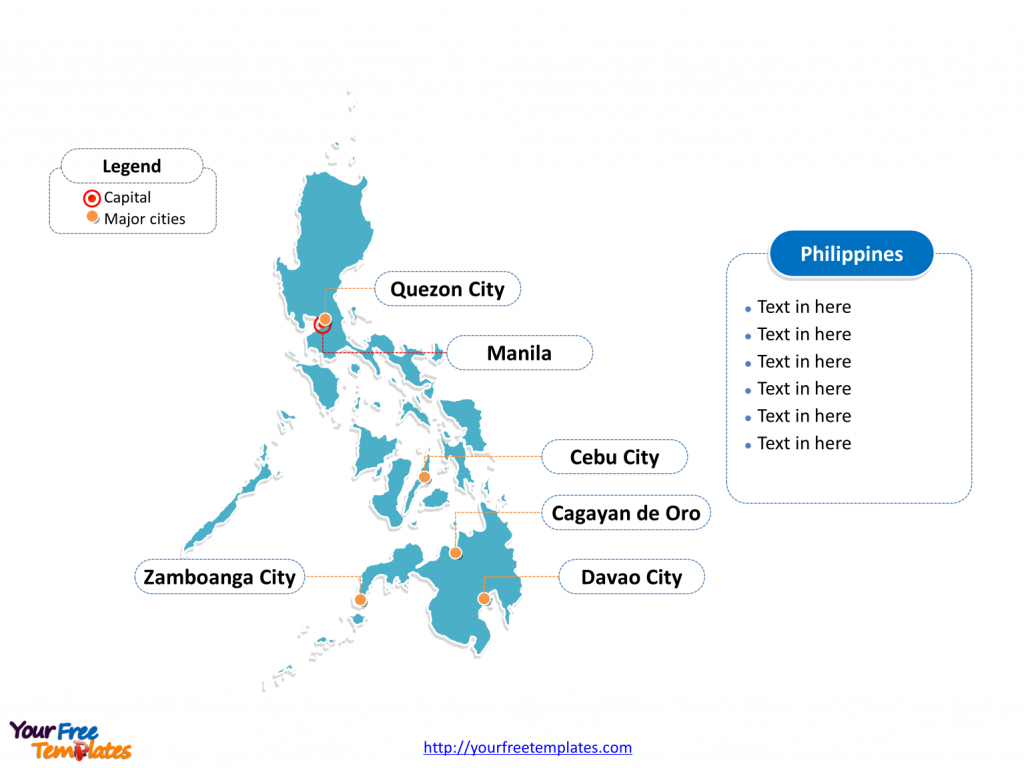 Free Philippines Editable Map - Free Powerpoint Templates throughout Free Printable Map Of The Philippines