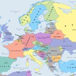 Free Political Maps Of Europe – Mapswire For Printable Map Of Europe With Capitals