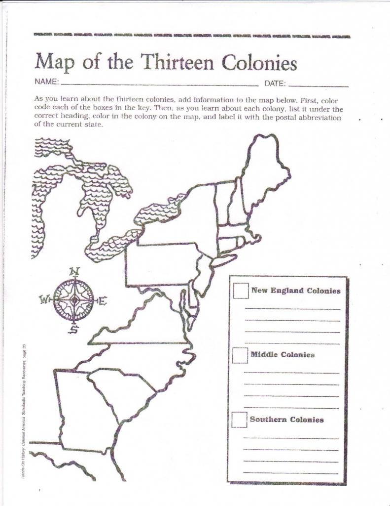 Free Printable 13 Colonies Map … | Activities | Socia… with 13 Colonies Blank Map Printable