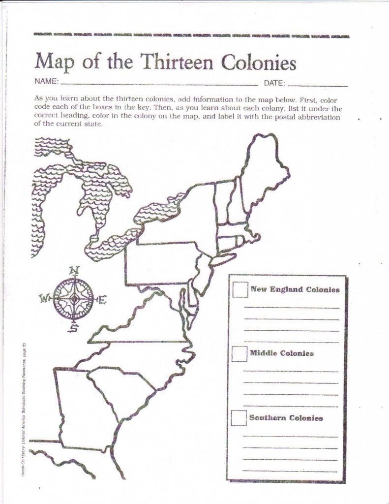 Free Printable 13 Colonies Map … | Activities | Socia… with New England Colonies Map Printable