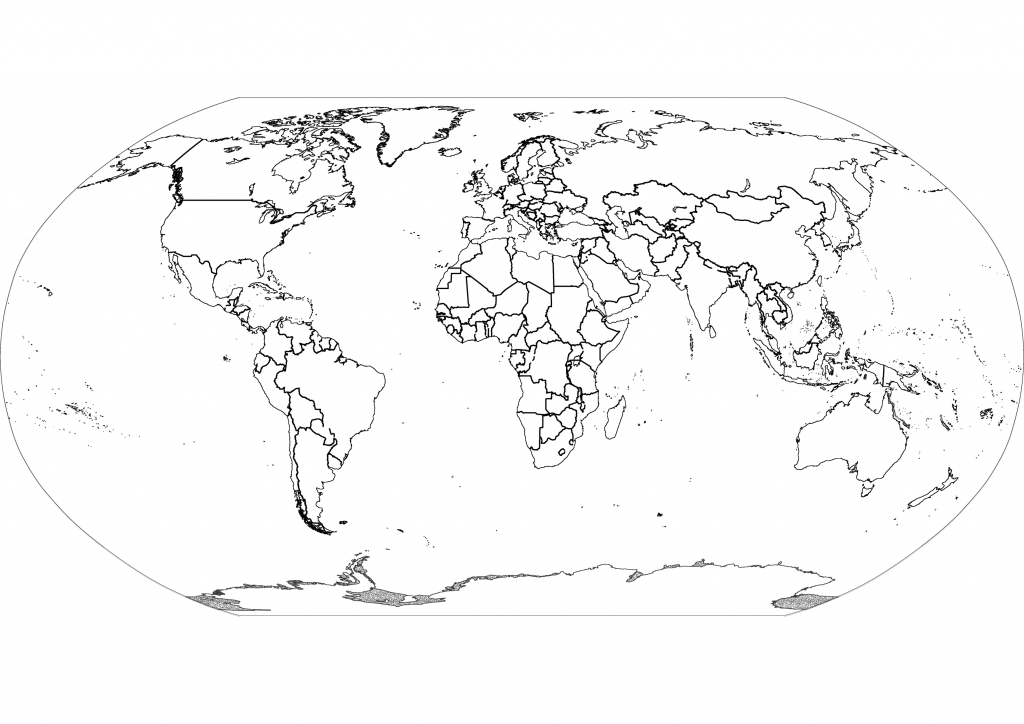 Free Printable Black And White World Map With Countries Labeled And for Black And White Printable World Map With Countries Labeled