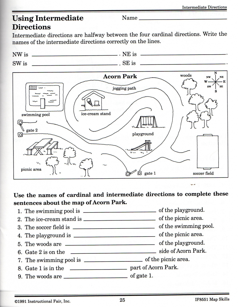 Free Printable Grid Map Worksheets |  Free Elementary Worksheets in Printable Map Activities