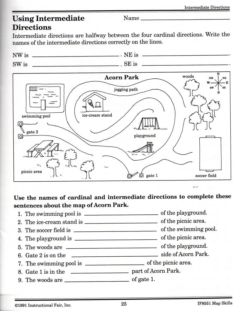 Free Printable Grid Map Worksheets |  Free Elementary Worksheets intended for Free Printable Map Skills Worksheets