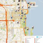 Free Printable Map Of Chicago Attractions.   Free Tourist Maps In Printable Map Of Chicago