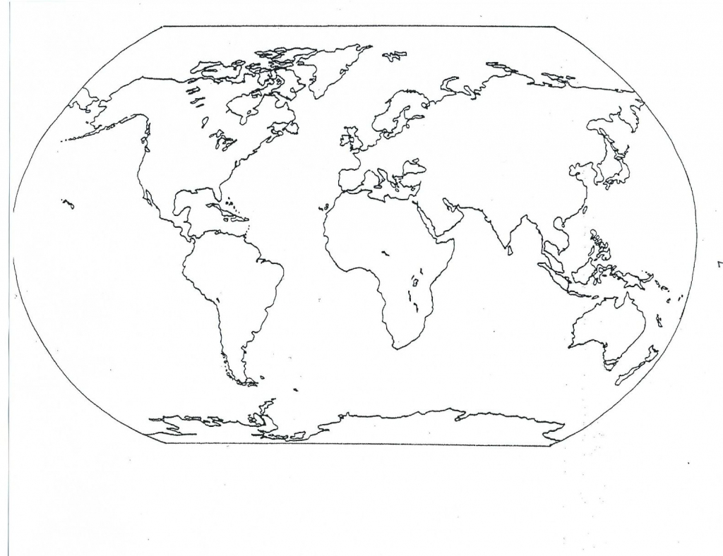 Free Printable Map Of Continents And Oceans | Free Printables within Printable Map Of Oceans And Continents