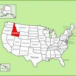 Free Printable Map Of Idaho In Printable Map Of Idaho