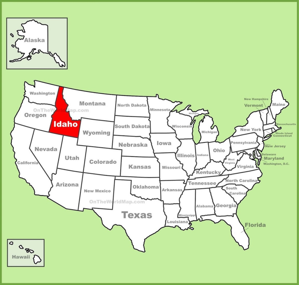 Free Printable Map Of Idaho in Printable Map Of Idaho