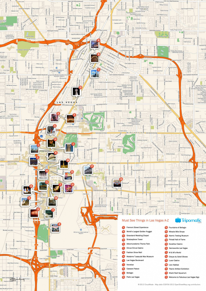 Free Printable Map Of Las Vegas Attractions. | Free Tourist Maps throughout Printable Local Street Maps