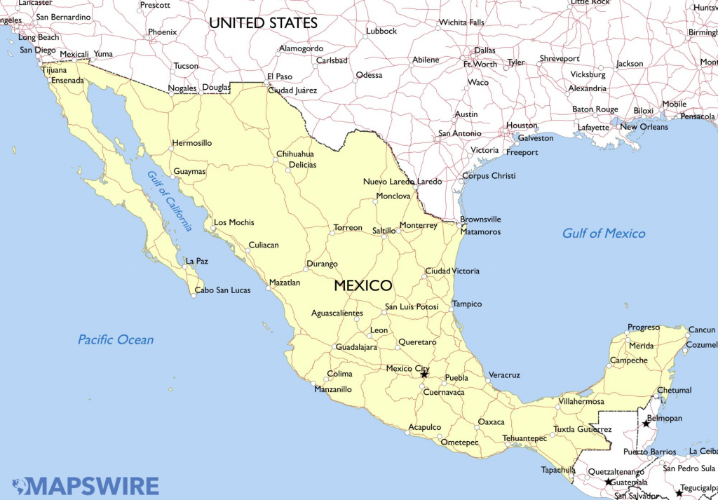 Free Printable Map Of Mexico A Printable Map Of Mexico Labeled With within Free Printable Map Of Mexico