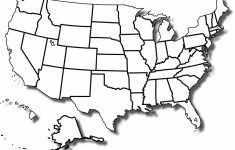 United States Of America Blank Printable Map