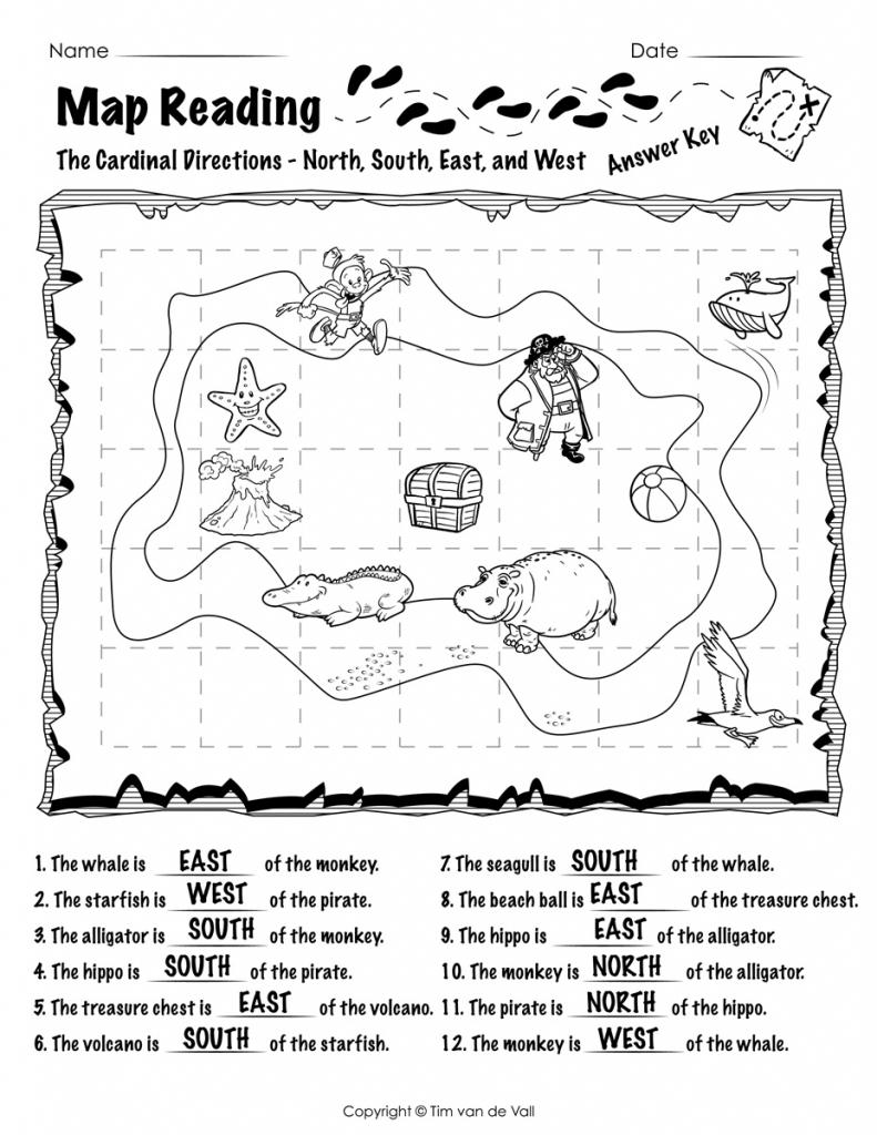 Free Printable Map Reading Worksheets – Tim's Printables inside Printable Map Worksheets