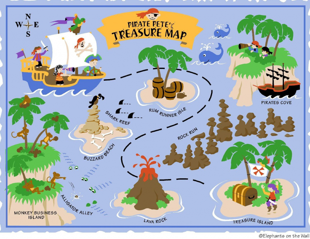 Free Printable Pirate Treasure Map - Google Search | Boy Pirates in Children's Treasure Map Printable