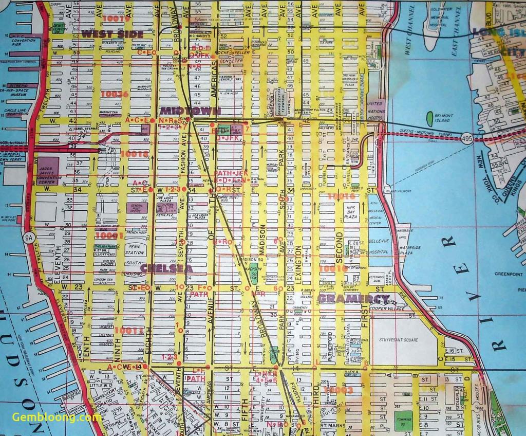 Free Printable Street Map Manhattan Unique Of New Fancy York Subway within Printable Street Maps Free