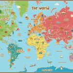 Free Printable World Map For Kids Maps And | Gary's Scattered Mind Intended For Kid Friendly World Map Printable