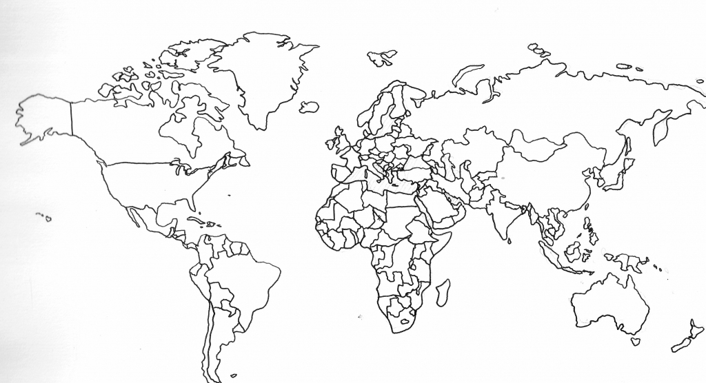 Free Printable World Map With Countries Labeled And Travel within Free Printable Country Maps