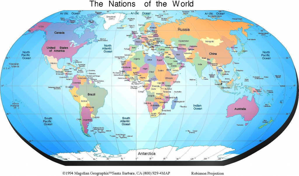 Free Printable World Map With Countries Labeled Show Me A Us For The pertaining to Free Printable World Map Images