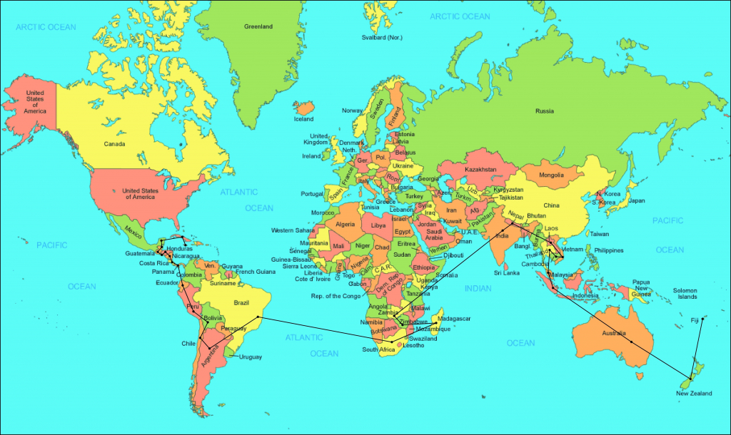Free Printable World Map With Countries Labeled Show Me A Us For The within Printable World Map With Countries Labeled
