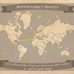 Free Printable World Travel Map Pertaining To Printable Travel Maps