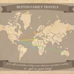 Free Printable World Travel Map Within 8.5 X 11 Printable World Map