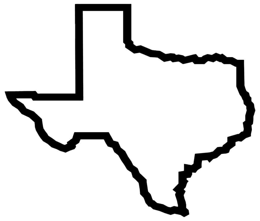 Free Texas Outline, Download Free Clip Art, Free Clip Art On Clipart with Texas Map Outline Printable