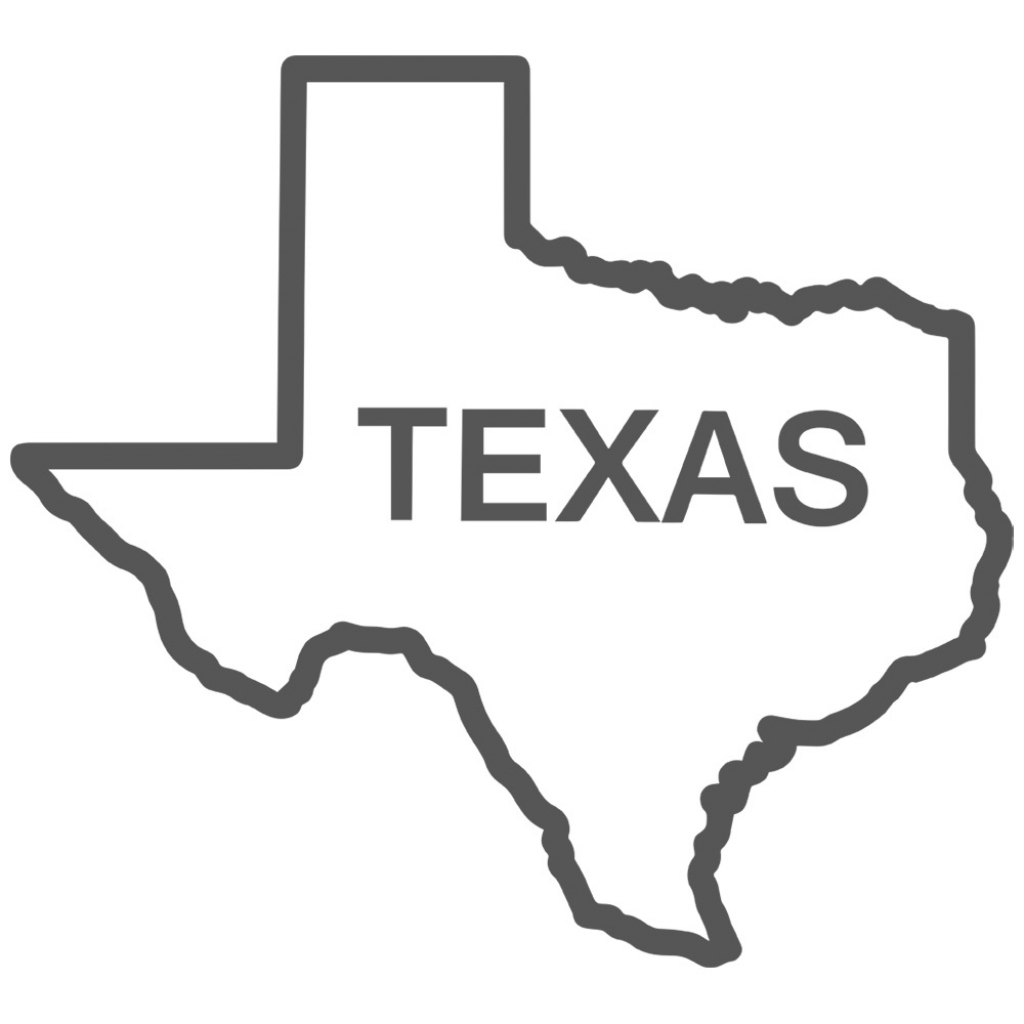 Free Texas Outline, Download Free Clip Art, Free Clip Art On Clipart within Texas Map Outline Printable