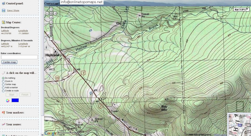 Free Topographic Maps And How To Read A Topographic Map within Free Printable Topo Maps Online