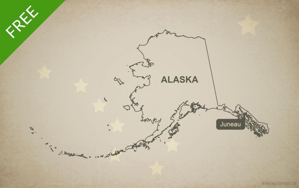 Free Vector Map Of Alaska Outline | One Stop Map for Free Printable Map Of Alaska