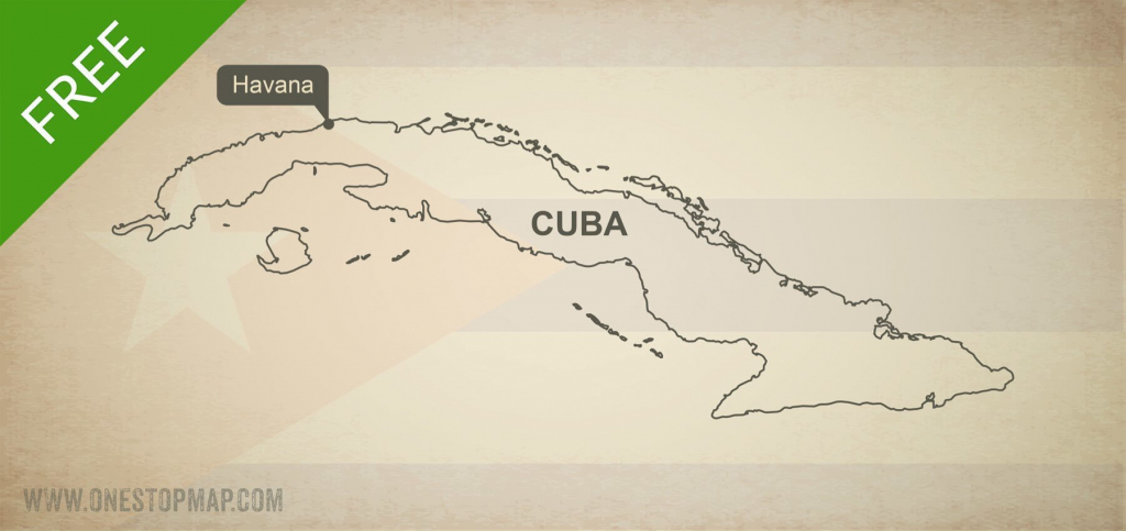 Free Vector Map Of Cuba Outline | One Stop Map pertaining to Printable Outline Map Of Cuba