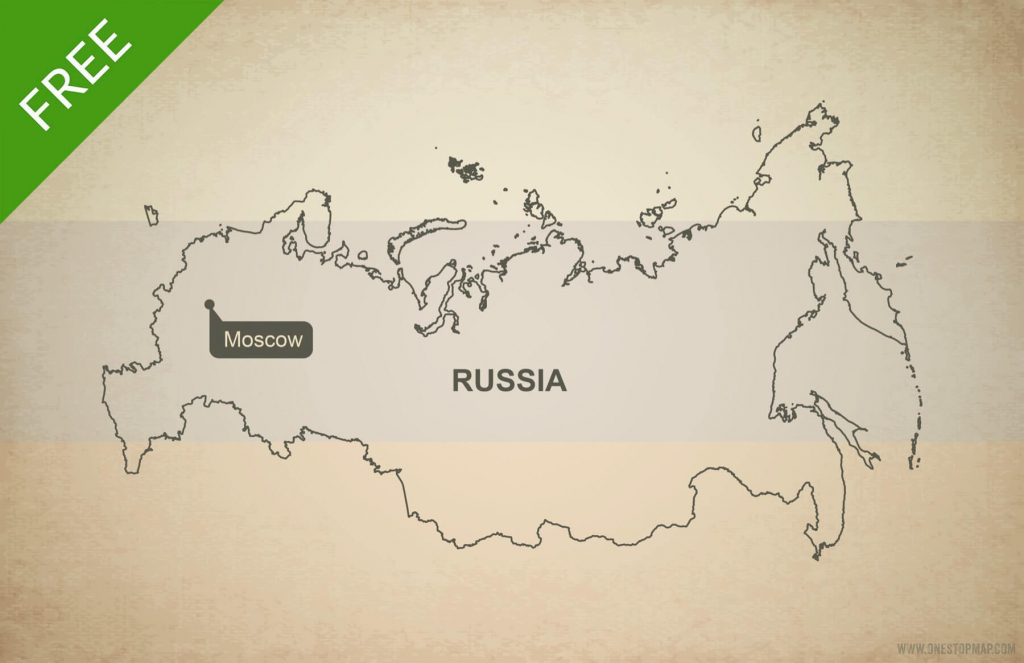 Free Vector Map Of Russia Outline | One Stop Map in Russia Map Outline Printable