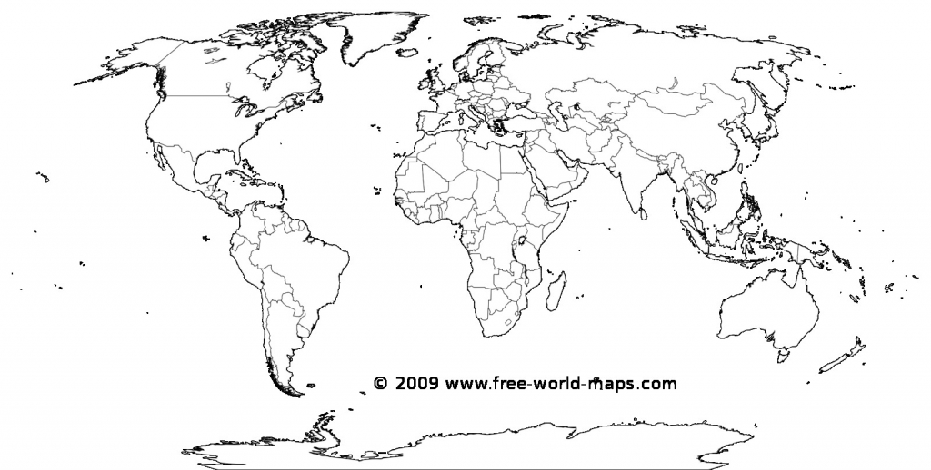 Free World Map Printable - Earthwotkstrust for Blackline World Map Printable Free