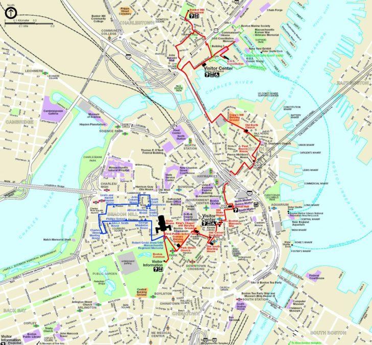 Freedom Trail Map Printable