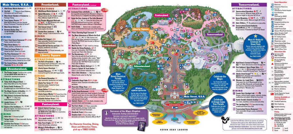 Full Map Of Magic Kingdom Park In Walt Disney World Florida! Enjoy for Printable Magic Kingdom Map