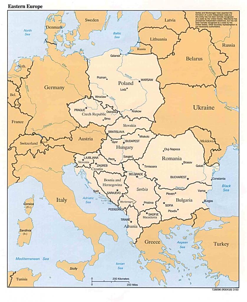 General Map Of Eastern Europe throughout Printable Map Of Eastern Europe