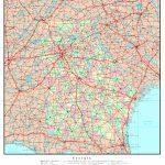 Georgia Printable Map Throughout Georgia Road Map Printable