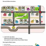 Give And Follow Directions On A Map Worksheet   Free Esl Printable Pertaining To Printable Map Worksheets