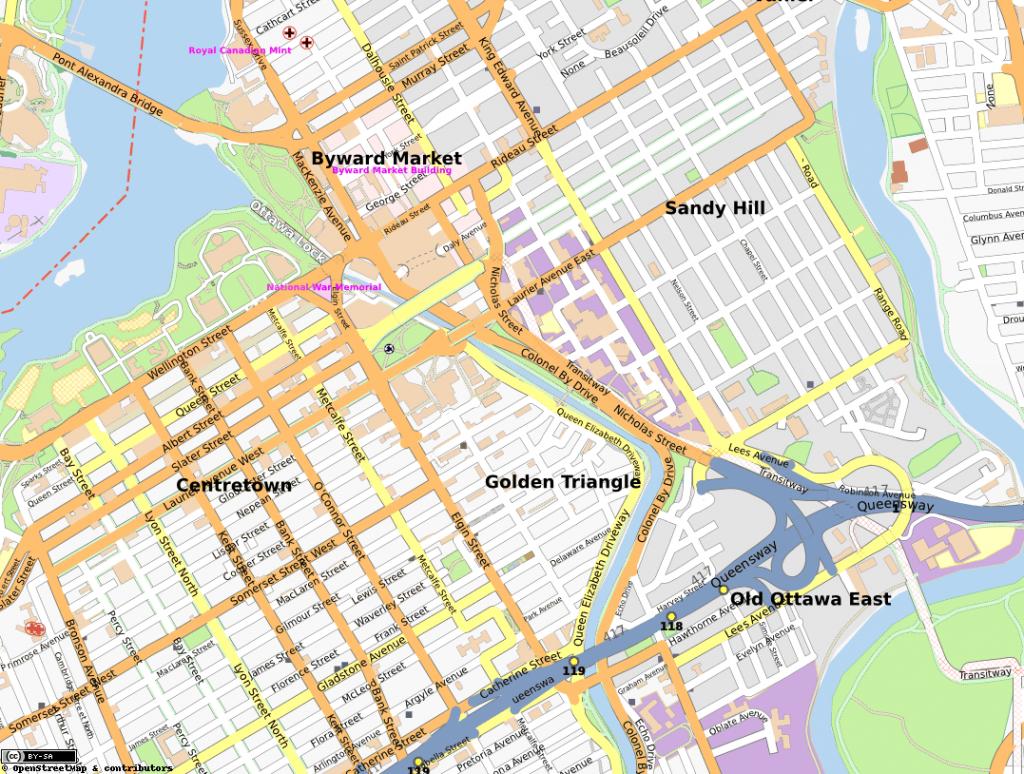Golden Triangle, Ottawa - Wikipedia regarding Printable Map Of Ottawa