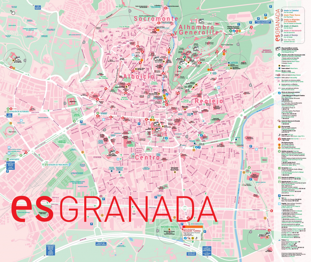 Granada Bus Map with Printable Street Map Of Granada Spain